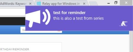 Relay- Alarm notification
