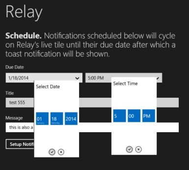 Relay- Time and date