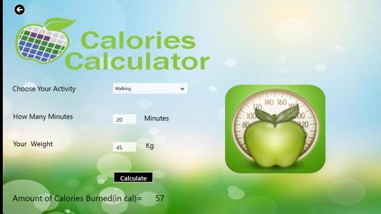 CaloriesCalculator