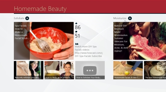Homemade Beauty - Start screen