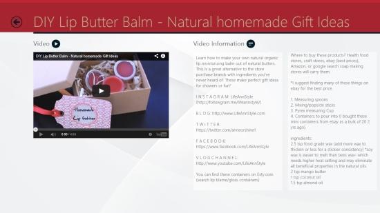 Homemade Beauty - Video demonstration