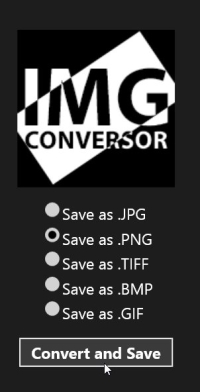 Image Conversor - Output file types