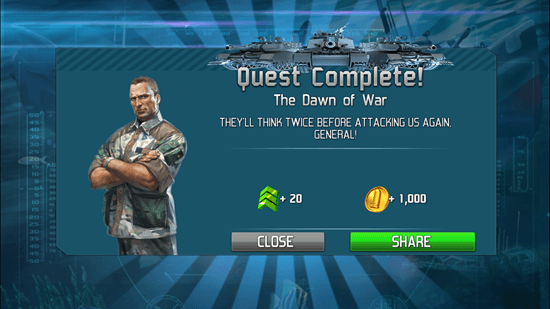 World At Arms - Quest Complete