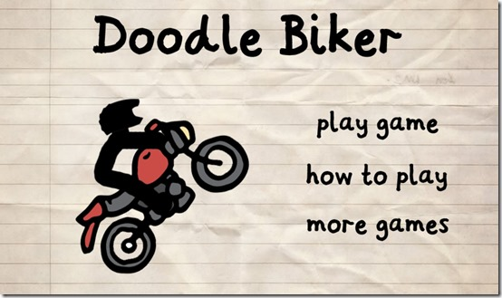 Doodle Biker- Start Screen