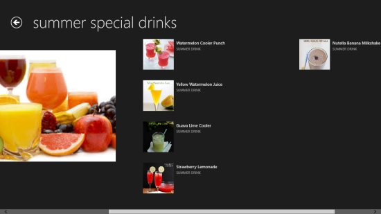 Drinks - Category view