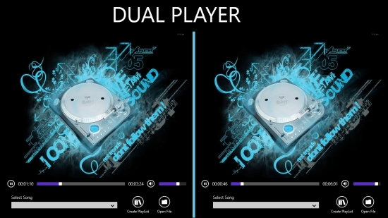 Dual Player - Audio play