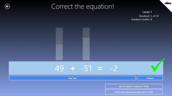 Equations- The Math Game - Game Play