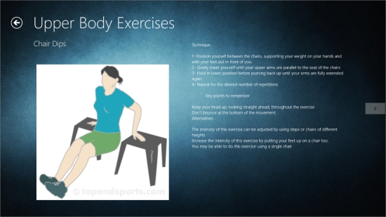 Fitness at Home - Exercise details