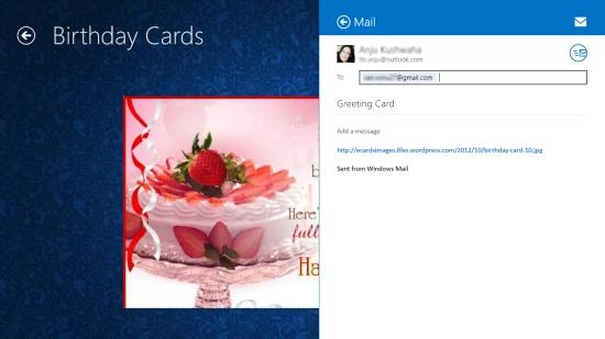 send birthday ecards using this free windows  greeting card app, Birthday card