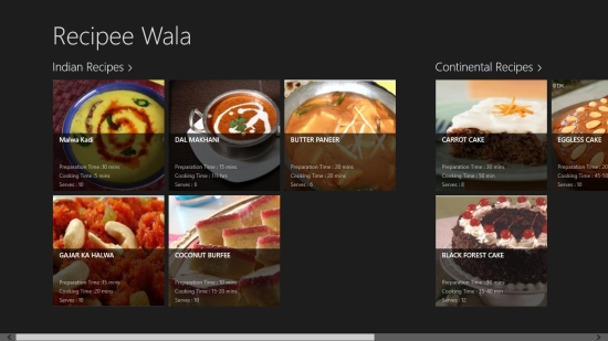 Windows 8 multi cuisine recipes app recipe palette windows 8 freeware recipe palette is freely available in food dining category of windows store you can view the app directly in windows store using the link given below at forumfinder Gallery