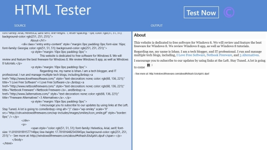 HTML Tester - Preview