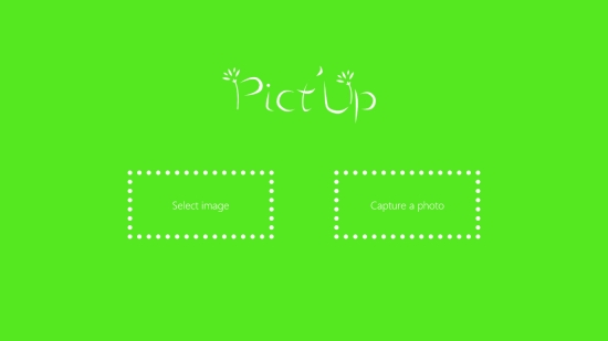 Pict'Up - Start screen