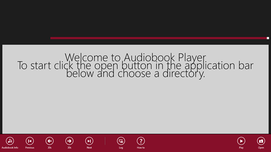 Audiobook Player - Control Bar Options
