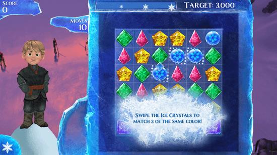 Frozen Free Fall - Game Screen
