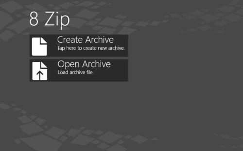 8 Zip - Windows 8 Zip File Manager app
