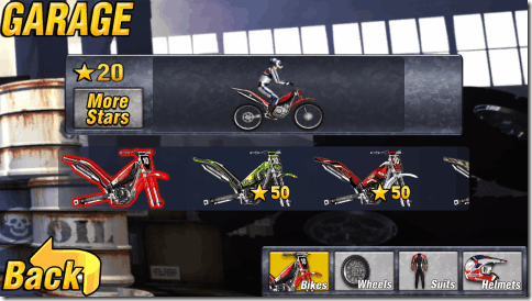Bike Mania 2 Multiplayer - Garage