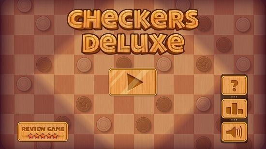 Checkers Deluxe Main menu
