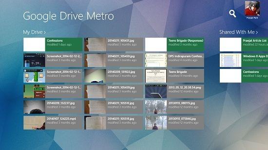 Google Drive Metro drive open