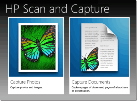 HP Scan And Capture - Interface