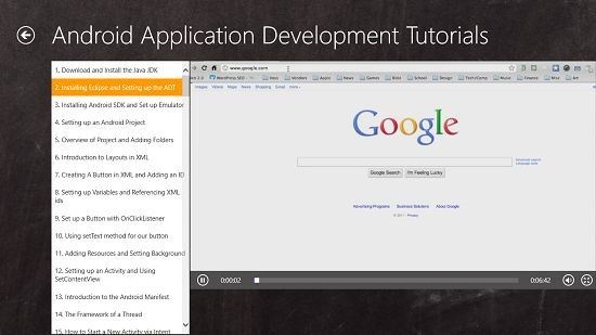 Programming Tutorials Android video tutorials