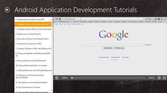 Programming Tutorials Android video tutorials