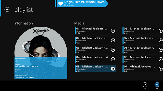 playlist created