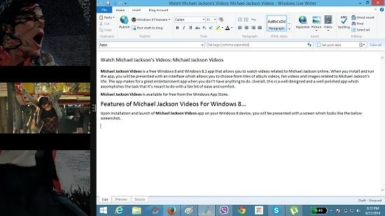 Michael Jackson Videos Video Player Snapped