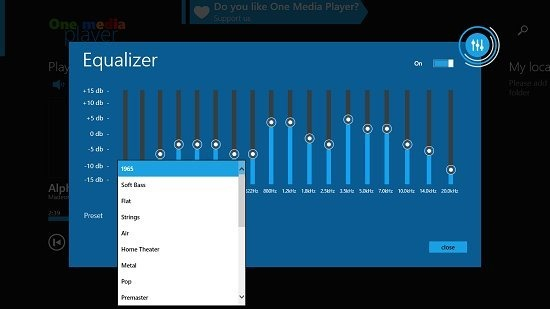 One Media Player Equalizer