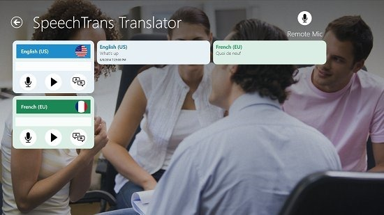 SpeechTrans Translator Speech Translated To French