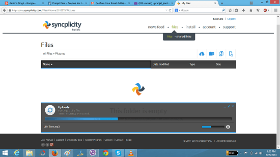 Syncplicity Adding Files To Shared Folder