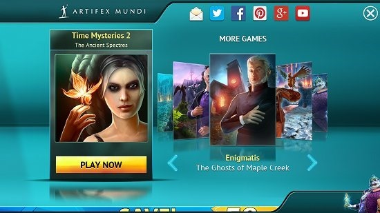 Time Mysteries 2- The Ancient Spectres Launch screen