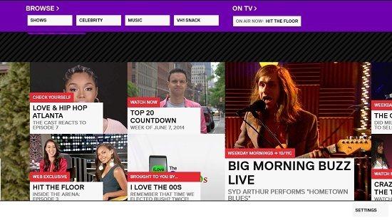 VH1 Control Bars