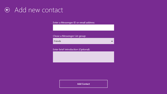 Yahoo! Messenger Add A New Contact