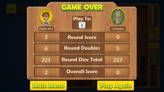Backgammon Deluxe Game Complete