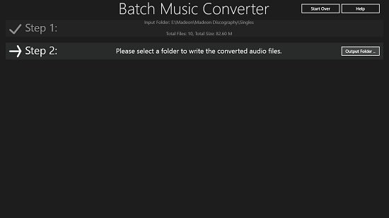 Batch Music Converter Choose Output Folder