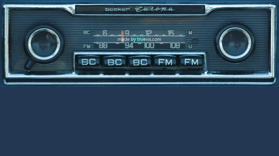 Car Radio main screen