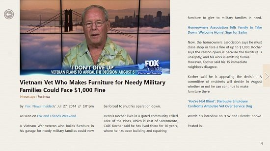 Dailyaha Fox News article open in reader interface