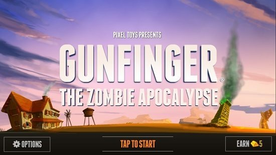 Gunfinger Main Screen