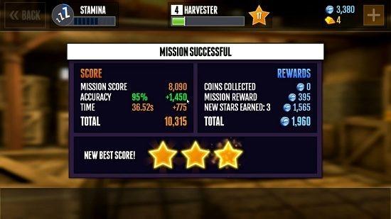 Gunfinger mission summary