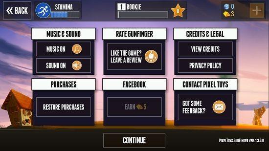 Gunfinger options