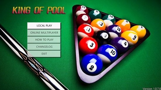 King of Pool main menu