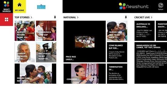 NewsHunt Content Screen