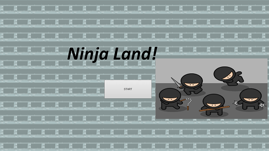 Ninja Land Main Screen