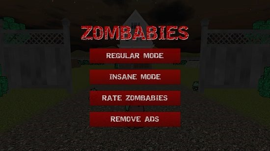 Zombabies main screen