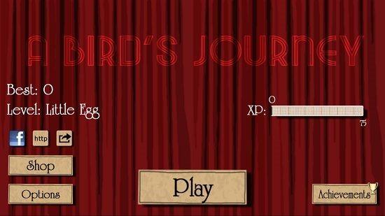 A Bird's Journey Main Screen