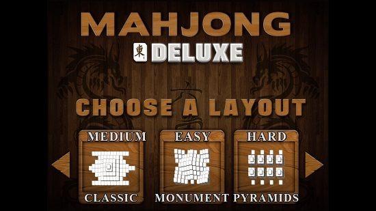 Mahjong Deluxe Layout Selection