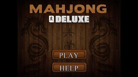 Mahjong Deluxe Main Screen