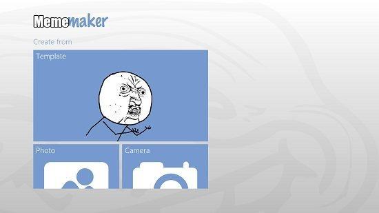 Meme-maker main screen