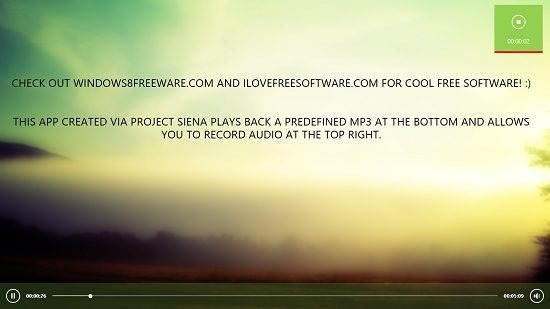 Microsoft Project Siena Recording and Music Playback In Progress