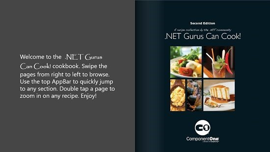 .NET Gurus Can Cook! Main Screen